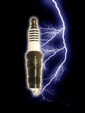 Energized Spark Plug Royalty Free Stock Photography