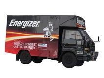 Energizer Van Isolated arkivbild