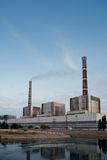 Energodar. Thermal power stations located in Energodar Stock Images