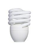 Energooszczędna fluorescencyjna żarówka odizolowywająca na bielu z klamerką Zdjęcie Royalty Free