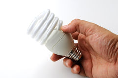 Energooszczędna lampa obraz stock