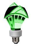 Energooszczędny; idzie zieleń ilustracji