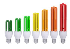 Energooszczędne lampy Obrazy Royalty Free