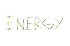 Energy. Blades of grass spelling out energy Stock Images