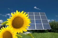 Energy. Solar energy for clean environment Stock Photo