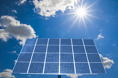 Energy. Solar energy. If it goes well to our environment, it also goes well to us Royalty Free Stock Photo