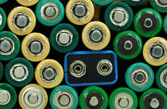 Energy. Stack of batteries representing the power Stock Image
