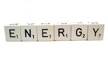 Energy. The word energy spelled out Stock Images