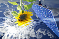 Energy. Solar energy for clean environment Royalty Free Stock Image