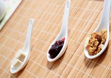 Energy. Cereals,jam, sugar for a breakfast Stock Image