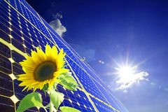 Energy. Solar energy for clean environment Stock Photography