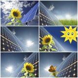 Energy. Solar energy for clean environment Stock Photos