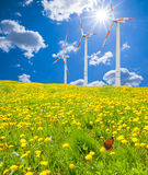 Energy. Wind energy for clean environment Royalty Free Stock Images