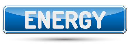 ENERGY - Abstract beautiful button with text. Stock Image
