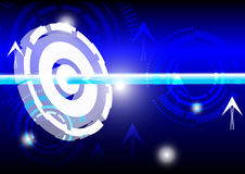 Energy and abstract blue light Stock Photo