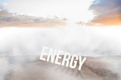 Energy against road leading out to the horizon Stock Image