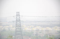 Energy and air pollution Stock Image