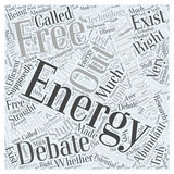 An Energy Alternative Free Energy word cloud concept vector background Stock Photos