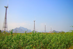 Energy alternatives 6. Wind farm in Indian province of Kerala. Alternative energy sources 8. Wind farm in Indian province of Kerala. Many wind-powered Royalty Free Stock Photography