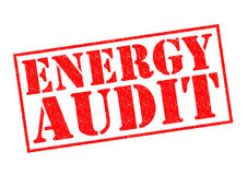 ENERGY AUDIT. Red Rubber Stamp over a white background Royalty Free Stock Photography