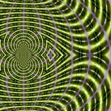 Energy background, fractal magnetic field lines in going green color, Abstract Scientific pattern stock illustration