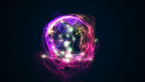 Abstract energy ball rotating on black background 3d illustration. Energy ball rotating on black background 3d illustration Royalty Free Stock Images