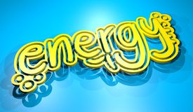 Energy banner Stock Image