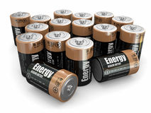 Energy batteries Stock Photography
