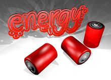 Energy batteries Stock Photo