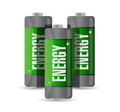 Energy batteries. illustration design Stock Photography