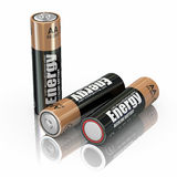 Energy battery. Energy batteries on white backround. Three-dimensional image. 3d Stock Photo