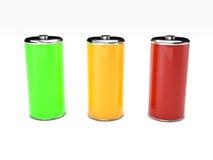 Energy battery on white background Royalty Free Stock Image