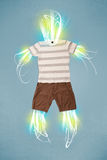 Energy beam in casual clothes concept Royalty Free Stock Images