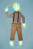 Energy beam in casual clothes concept Stock Images