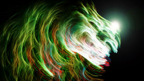 Energy beam of saturated colors Royalty Free Stock Image