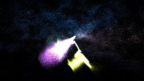 Energy beams in the abstract environment stock video footage