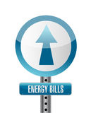 Energy bills road sign illustration design Stock Photos
