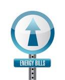 Energy bills road sign illustration design
