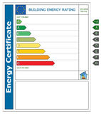 Energy building certificate Royalty Free Stock Image
