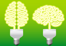 Energy bulb brain, vector Royalty Free Stock Images