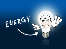 Energy Bulb Lamp Energy Light blue Stock Photo