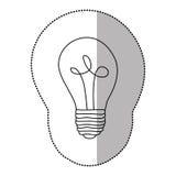 energy bulb power icon Royalty Free Stock Photos