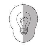 energy bulb power icon Royalty Free Stock Photo