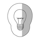 energy bulb power icon Stock Images
