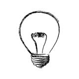 energy bulb power icon Royalty Free Stock Photography