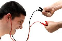 Energy burst. Guy receiving a healthy energy burst Stock Photos