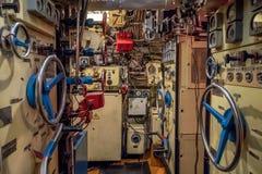 Kaliningrad, Russia - January, 2018. Museum Submarine B-413. The energy center of a diesel submarine. The energy center of a diesel submarine royalty free stock photos
