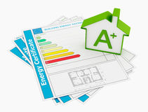 Energy certificate Royalty Free Stock Images