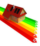 Energy chart with new energy save building. Illustration Royalty Free Stock Image