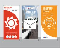 Energy check, portfolio, saw blade roll up. Energy check modern business roll up banner design template, portfolio creative poster stand or brochure concept, saw Royalty Free Stock Images